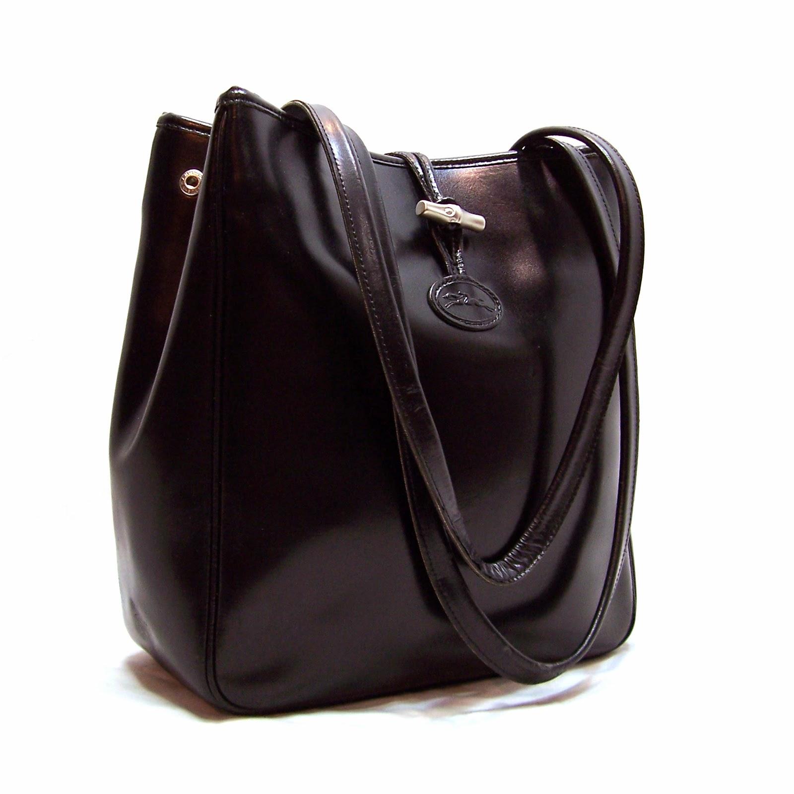 Longchamp Roseau Large Tote Black Leather Shoulder Bag ... c0cffa2e98e41