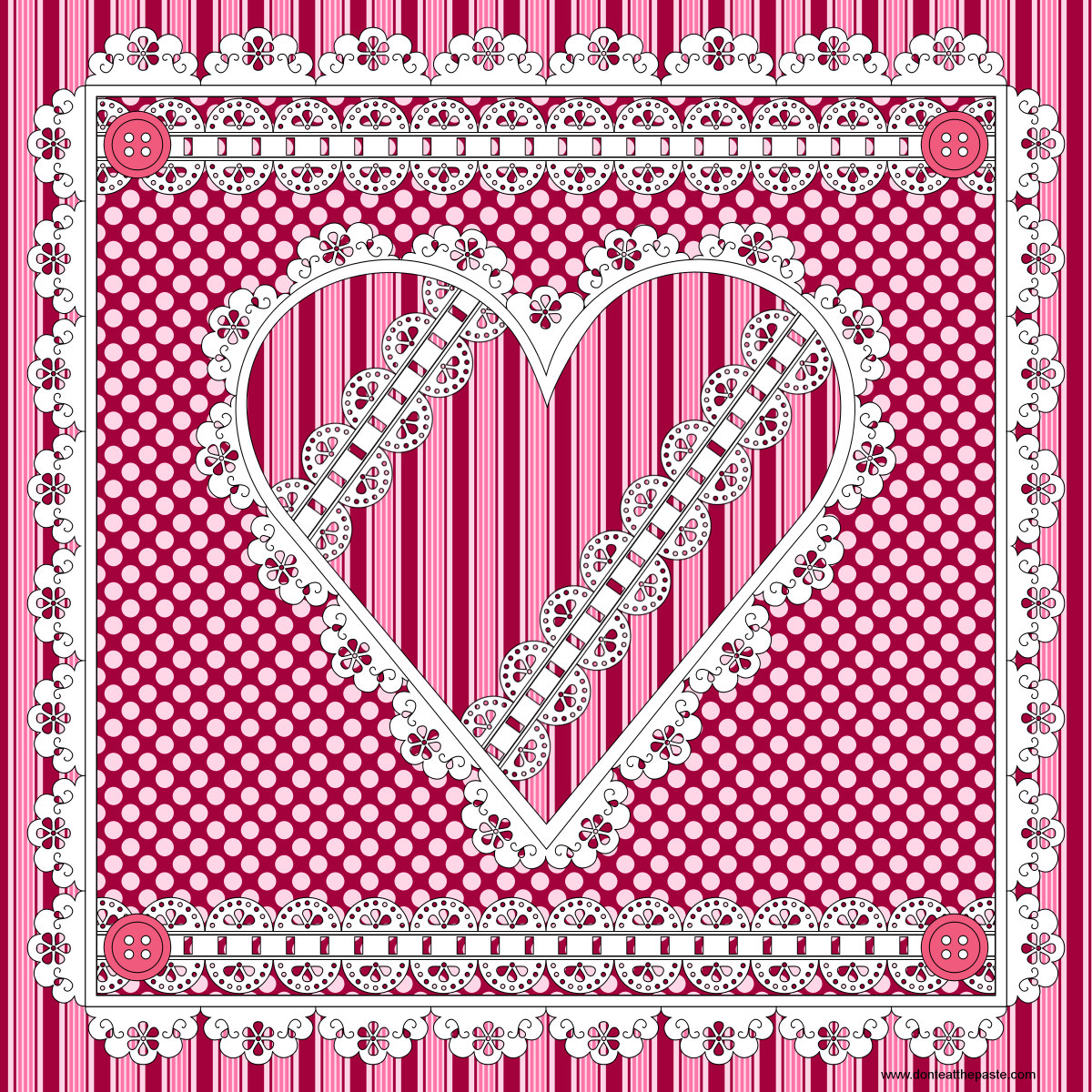 don u0027t eat the paste eyelet lace heart to color