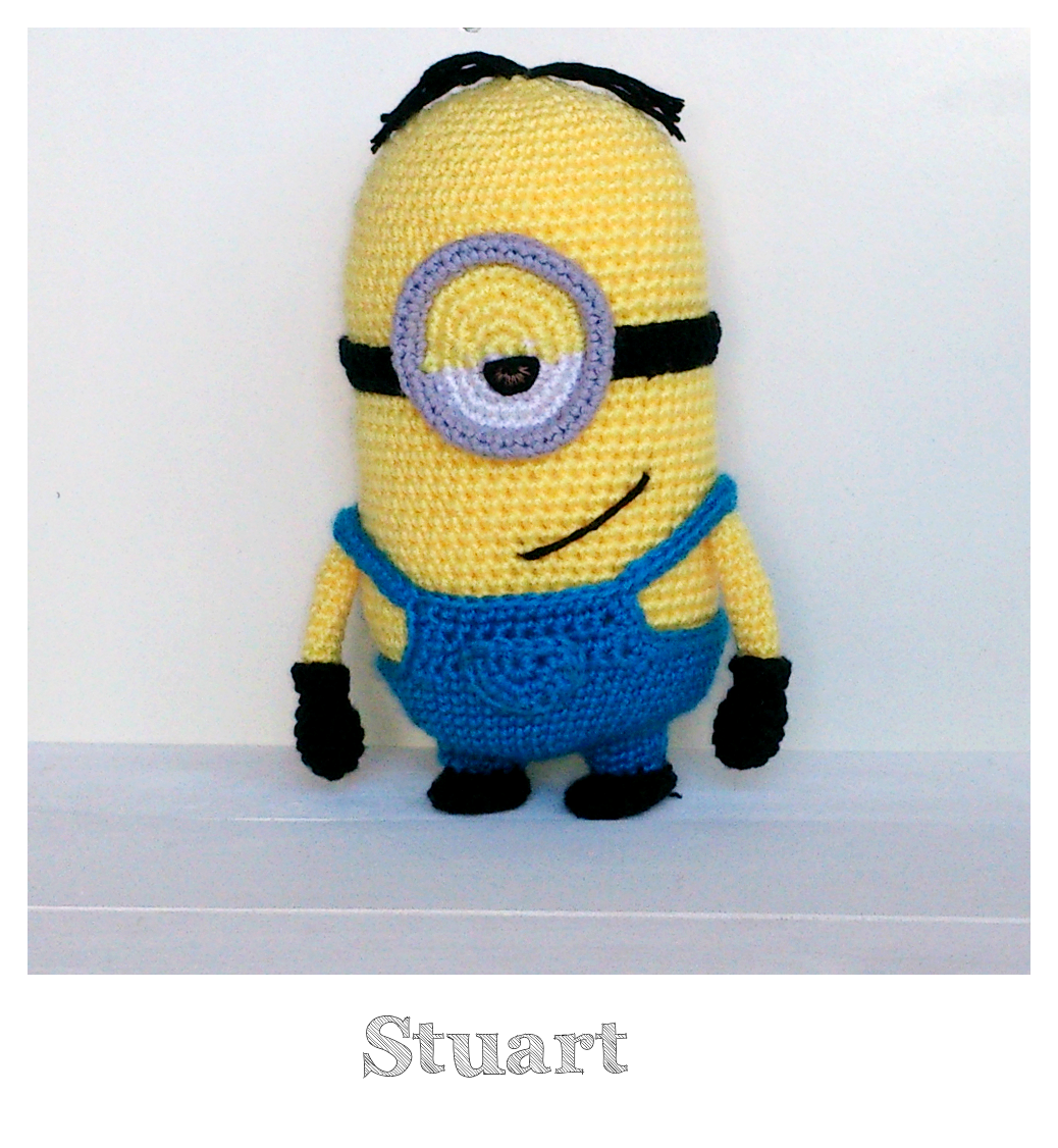Amigurumi Fan Club Minion : Amigurumi Minnion Stuart Terapia Ganchillera