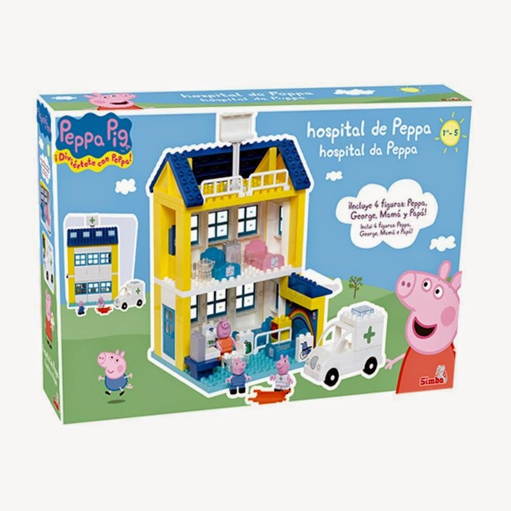 JUGUETES - PEPPA PIG - Hospital de Peppa Juego de construcción | Producto Oficial | Simba | A partir de 3 años