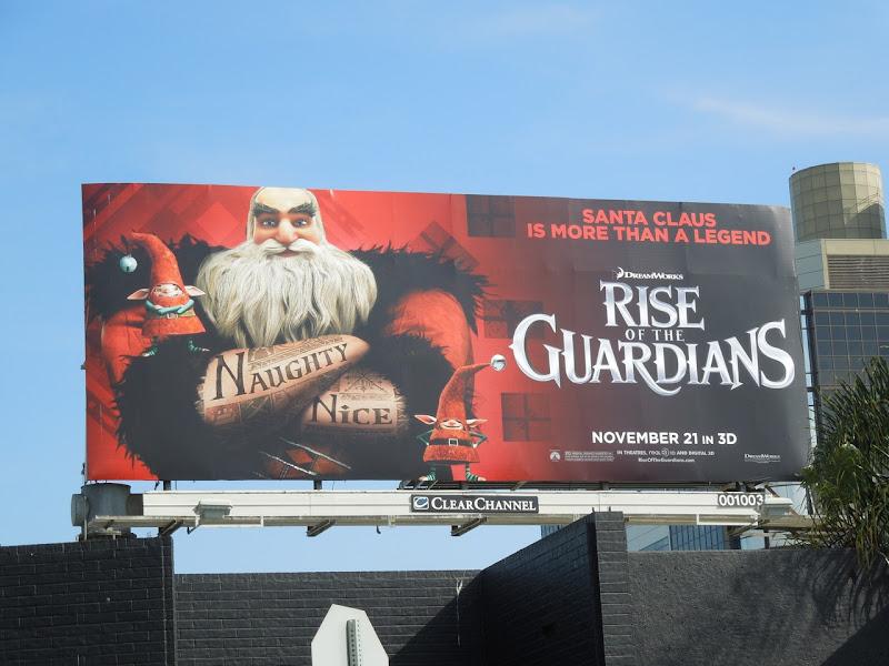 Rise Guardians Santa Claus billboard