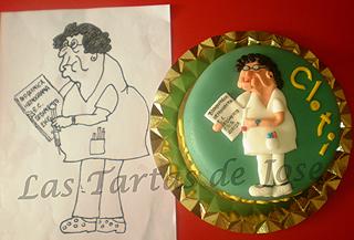 Tarta Jubilación Enfermera. Las Tartas de Jose. Castellón.