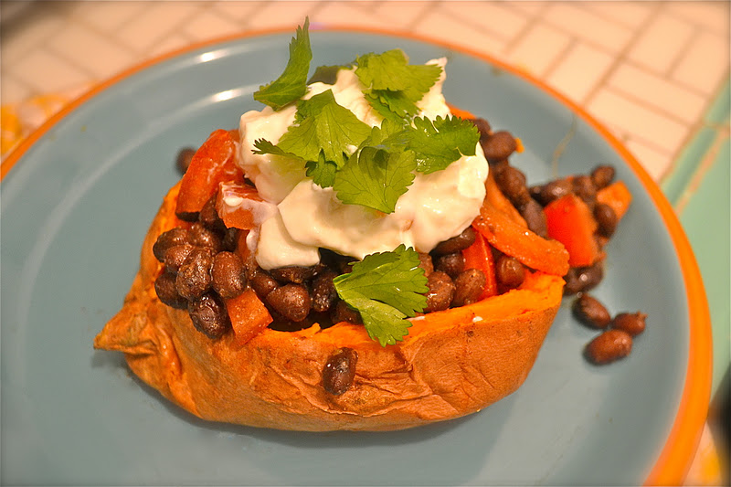 Black Bean-Smothered Sweet Potatoes Recipes — Dishmaps