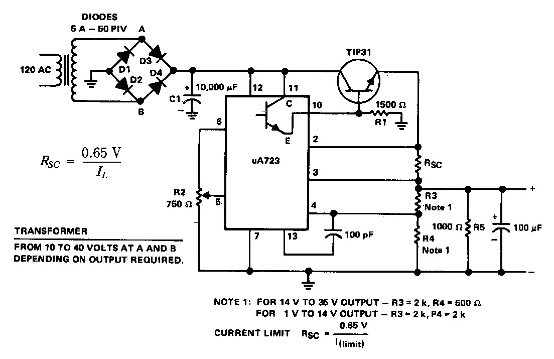 Design of v regulator using with circuit diagram