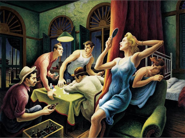 Thomas Hart Benton Poker NIght from a streetcar named desire