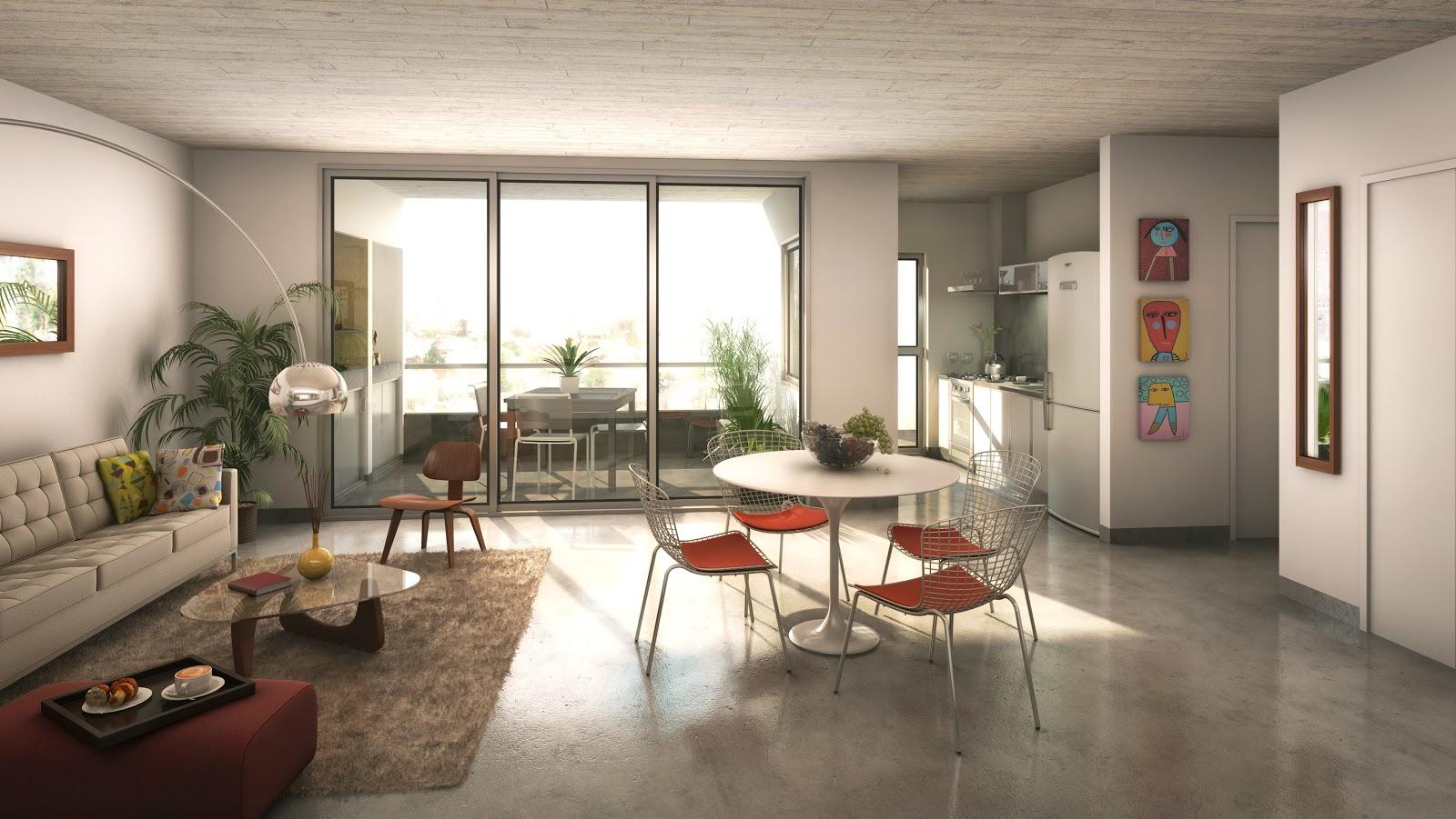 Renders arquitectura render interior living conde for Interior 1 arquitectura