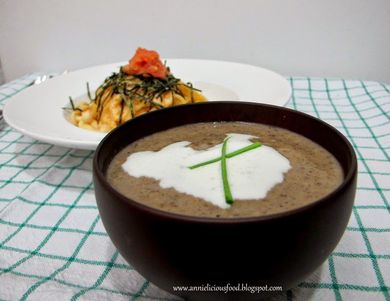 Annielicious Food: The Real Cream Of Mushrooms Soup