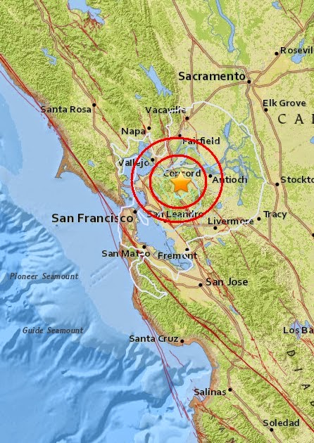 Magnitude 3.6 Earthquake of Concord, California 2015-05-03