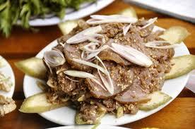 Thịt cầy áp chảo