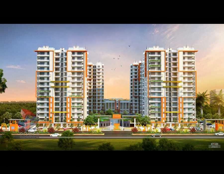 3d Apartment Design Exterior township apartments design | 3d rendering: 3d township rendering