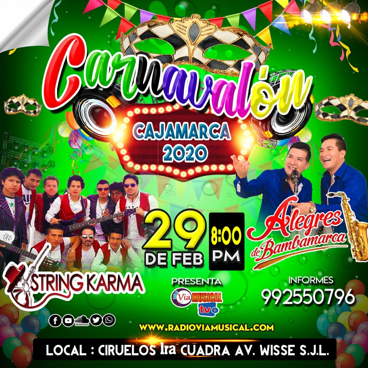 CARNAVALON CAJAMARQUINO EN  LOS CIRUELOS 29/02/2020