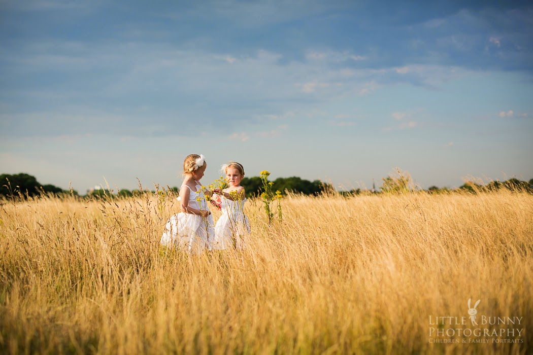 Child photo shoot at Wanstead Flats, East London