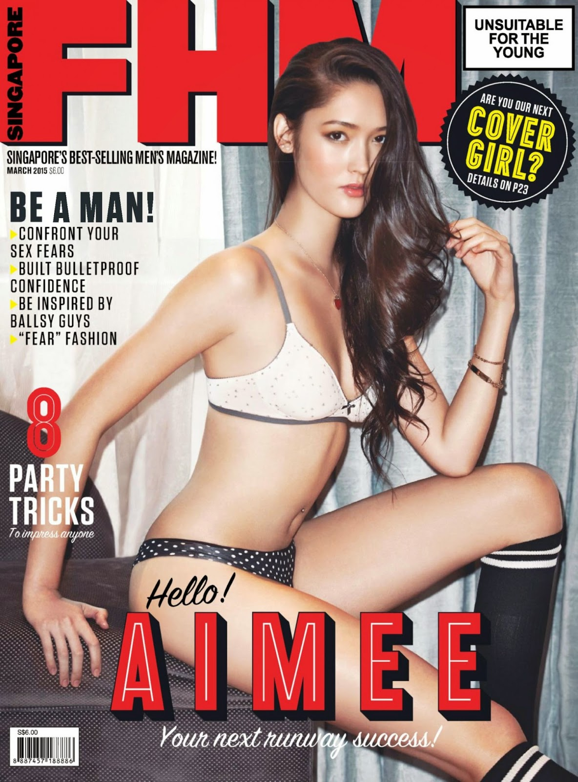 Model: Aimee Cheng-Bradshaw - FHM Singapore March 2015