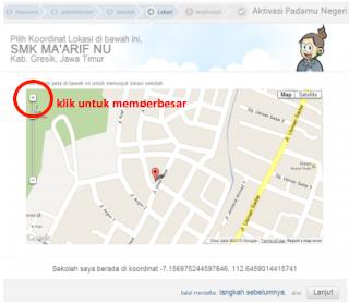 Cara Aktivasi Akun Operator Sekolah di situs padamu untuk VerVal NUPTK 6