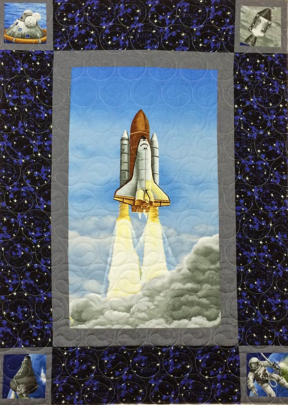 Elizabeth Magee Space Shuttle Quilt