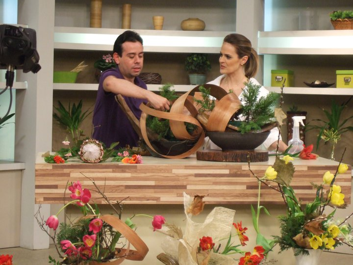 TV GAZETA PROGRAMA MULHERES , IKEBANA DE INVERNO.