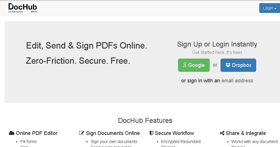 雲端文書推薦:專業俐落 DocHub 免費 PDF 線上編輯