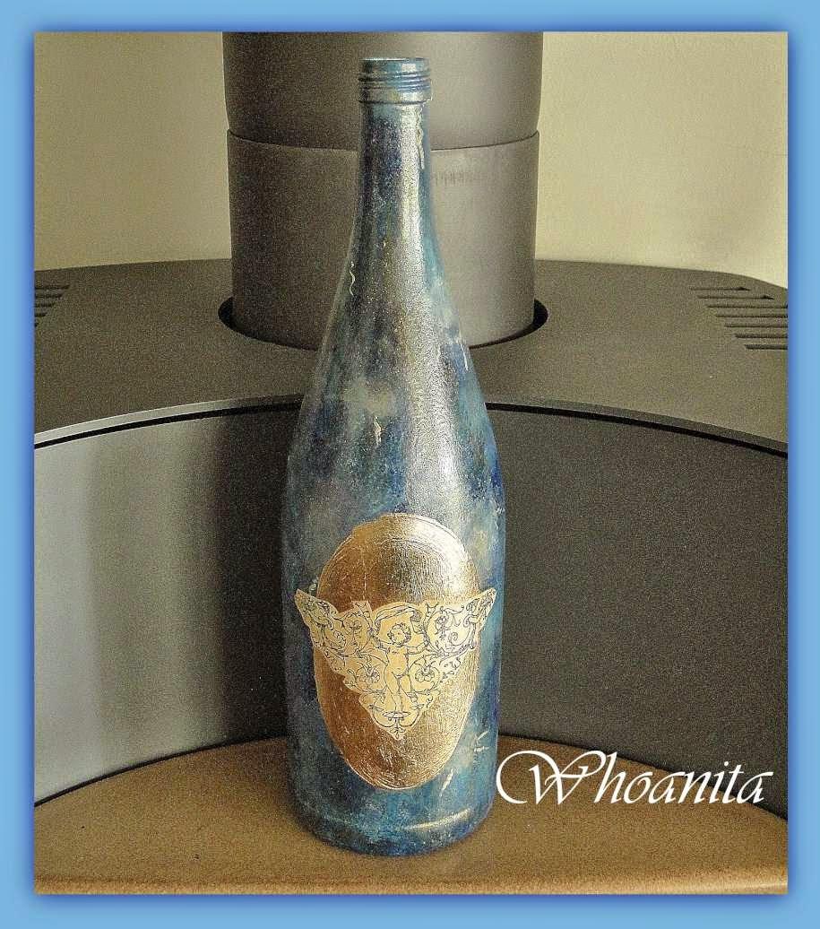 butelka bez nazwy, decoupage