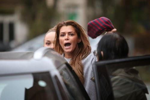 Outburst! Sabia Boulahrouz accosted at Paparazzi