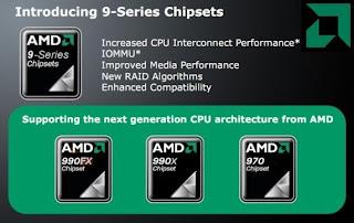 Chipset AMD 9 Series Pasangan Bulldozer
