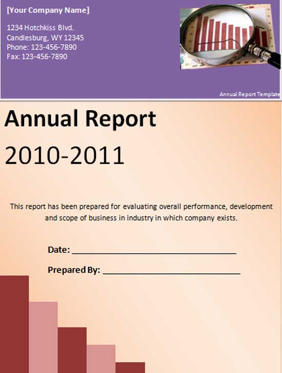 Annual report format template fbccfo Gallery