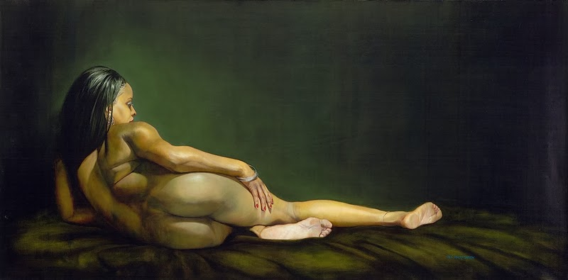 D.W.C. Nude Woman Figure - Painter Robert Hartshorn