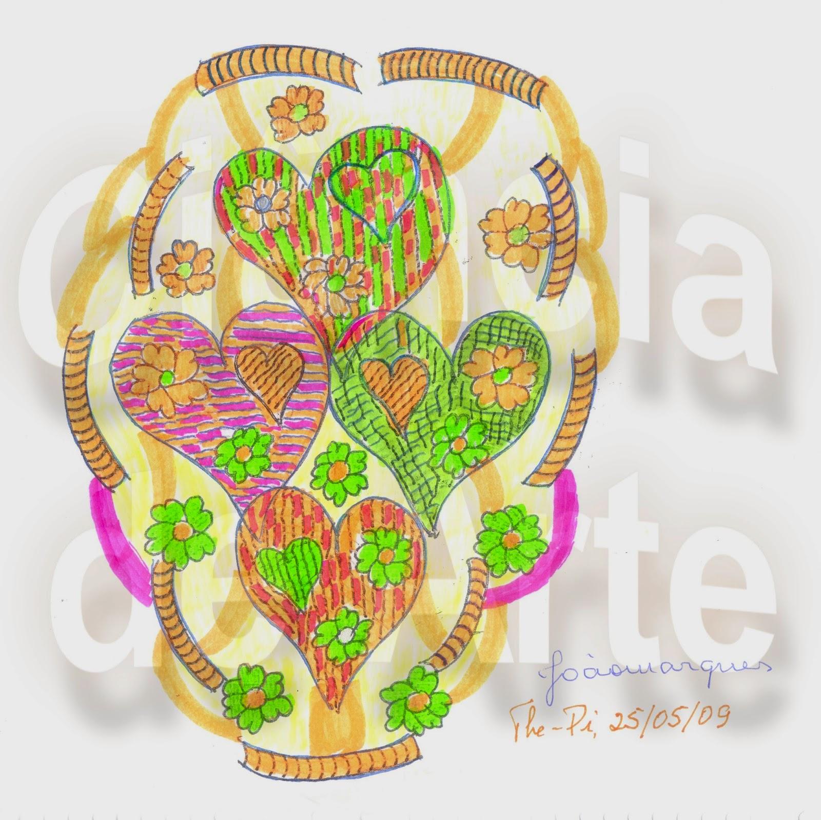 desenho de coração - coração e veias