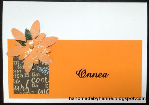 handmade by hanne oranssit onnittelut