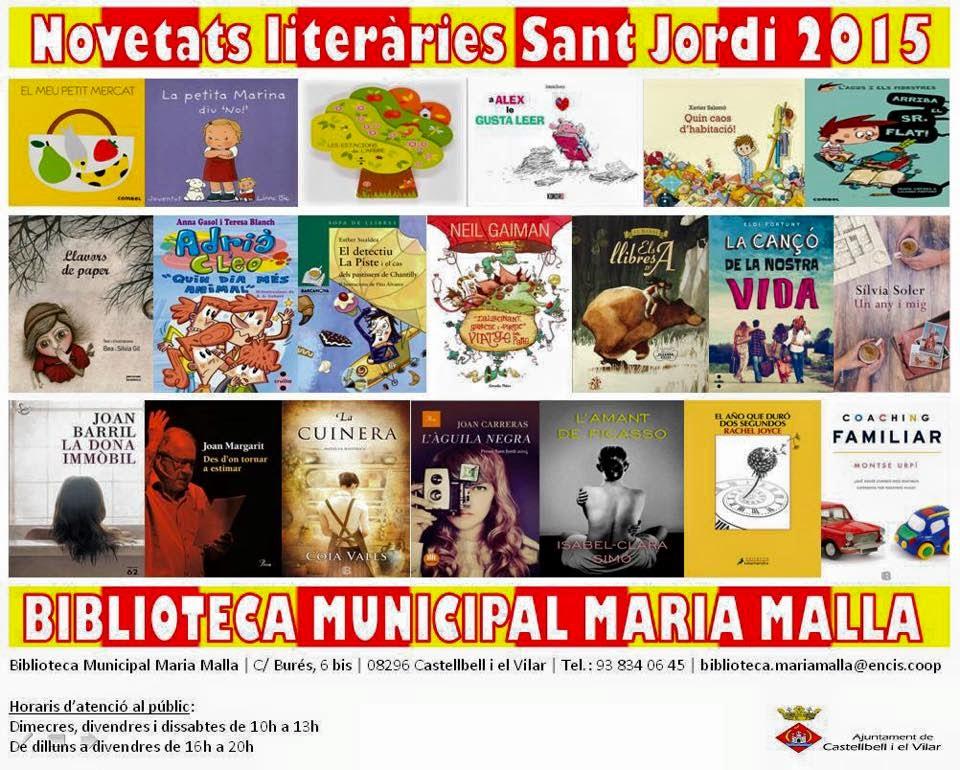 Novetats literàries Sant Jordi 2015