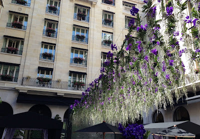 orchids at Four Seasons Paris