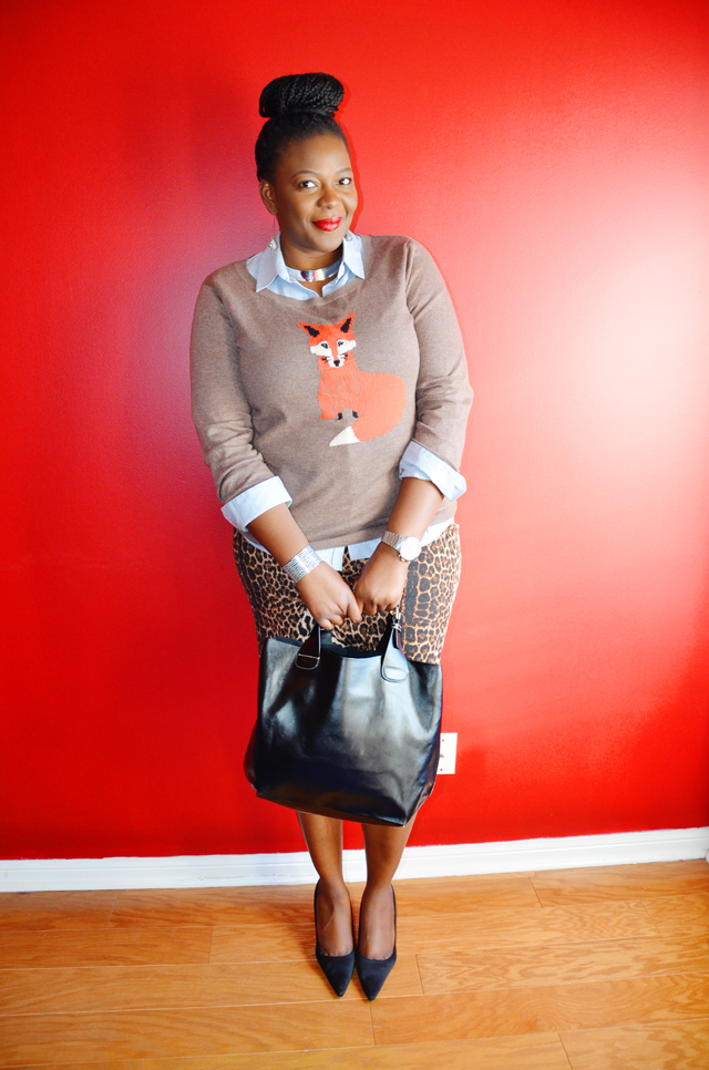 Plus size style inspiration: Old Navy Women's Softest Printed-Crew Sweater more on www.mycurvesandcurls.com