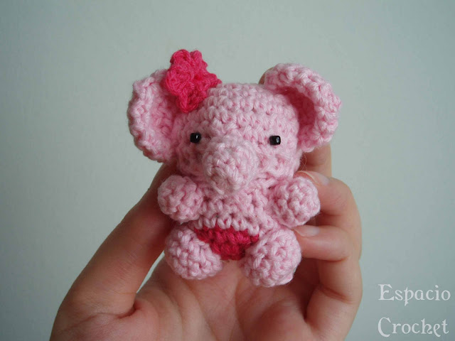 Enlarging Amigurumi Patterns : Espacio Crochet: Amigurumi elefante