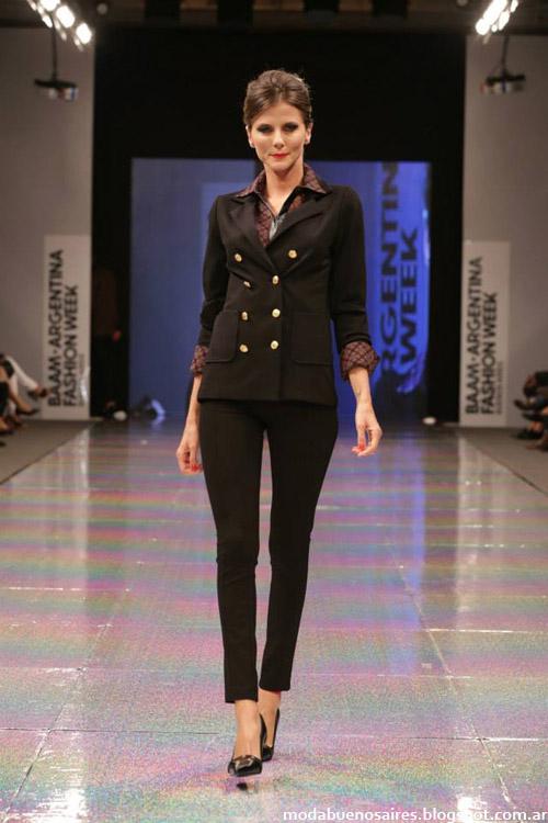 Adriana Costantini otoño invierno 2014 trajes de mujer.