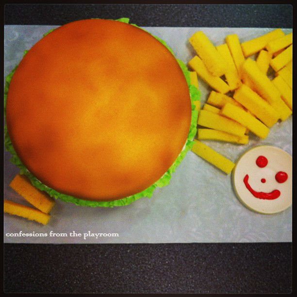 hamburger cake johnny rockets