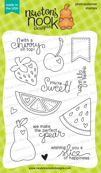 Sweet Summer 4x6 Fruit Stamp set | Newton's Nook Designs