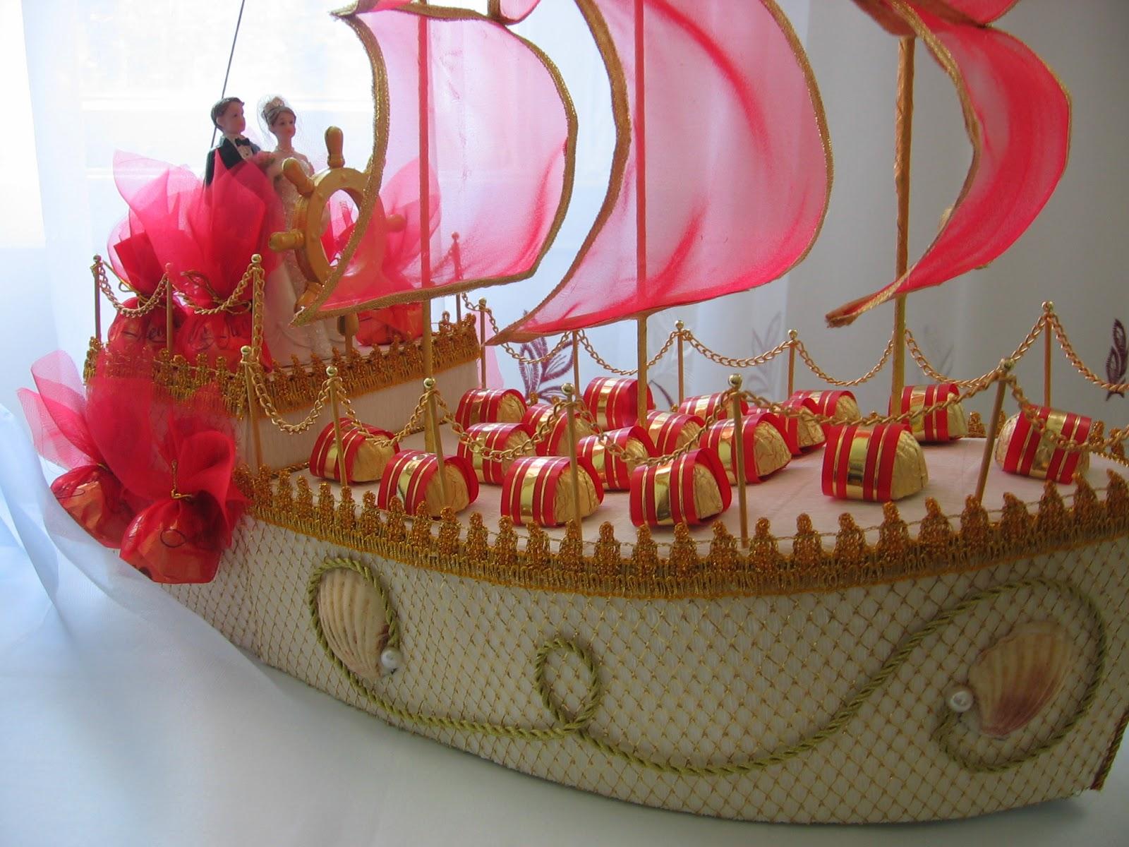 Свадебный корабль из конфет своими руками пошаговое фото