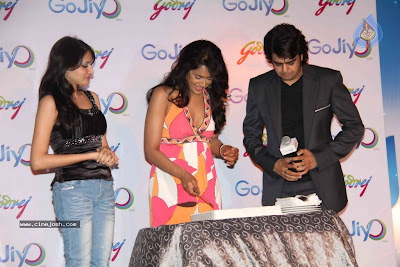 Sameera Reddy Looking Hot In Pink Outfit At GoJiyo Anniversary Celebration