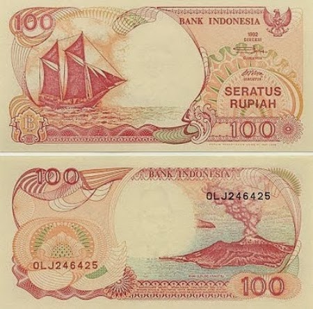 Uang Kertas 100 Rupiah 1992
