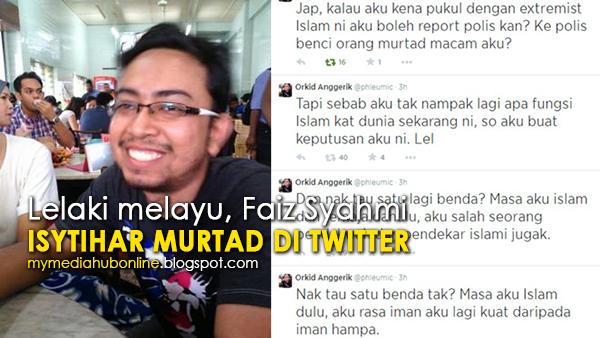 Lelaki Melayu Mengaku Murtad di Twitter