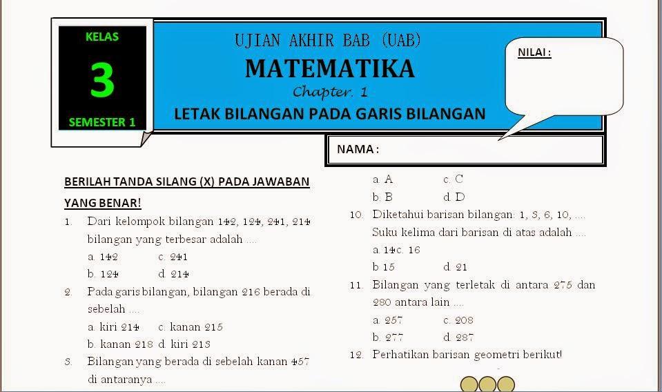 Download Soal Matematika Kelas 3 Bab 1 Rief Awa Blog
