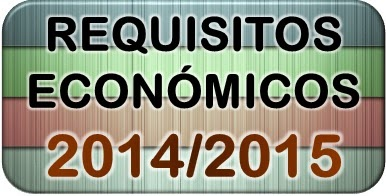 Requisitos económicos becas mec 2014/2015