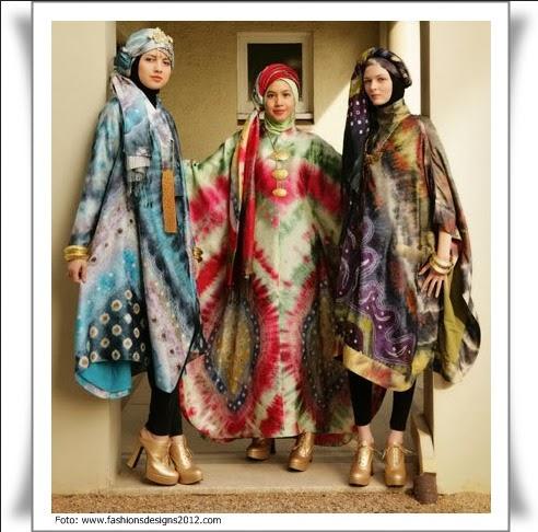 Model Baju Batik Pesta Muslimah
