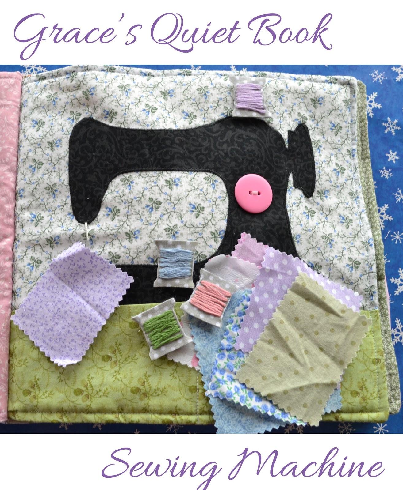 Grace's Quiet Book- Sewing Machine