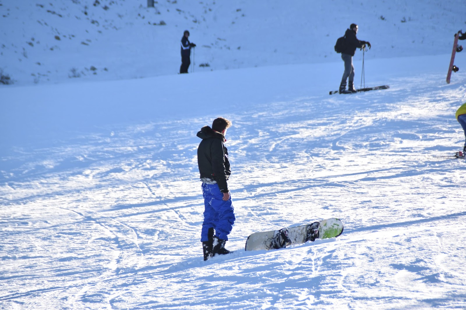 Snowboard runs at Bansko Ski Resort