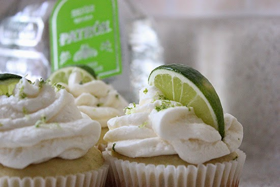 Margarita Cupcakes with Tequila