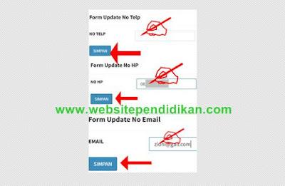 Form Ganti Email-Nomor Telepon- Nomor HP di ePUPNS