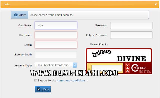Cara Daftar Adf.ly - www.rijal-islami.com