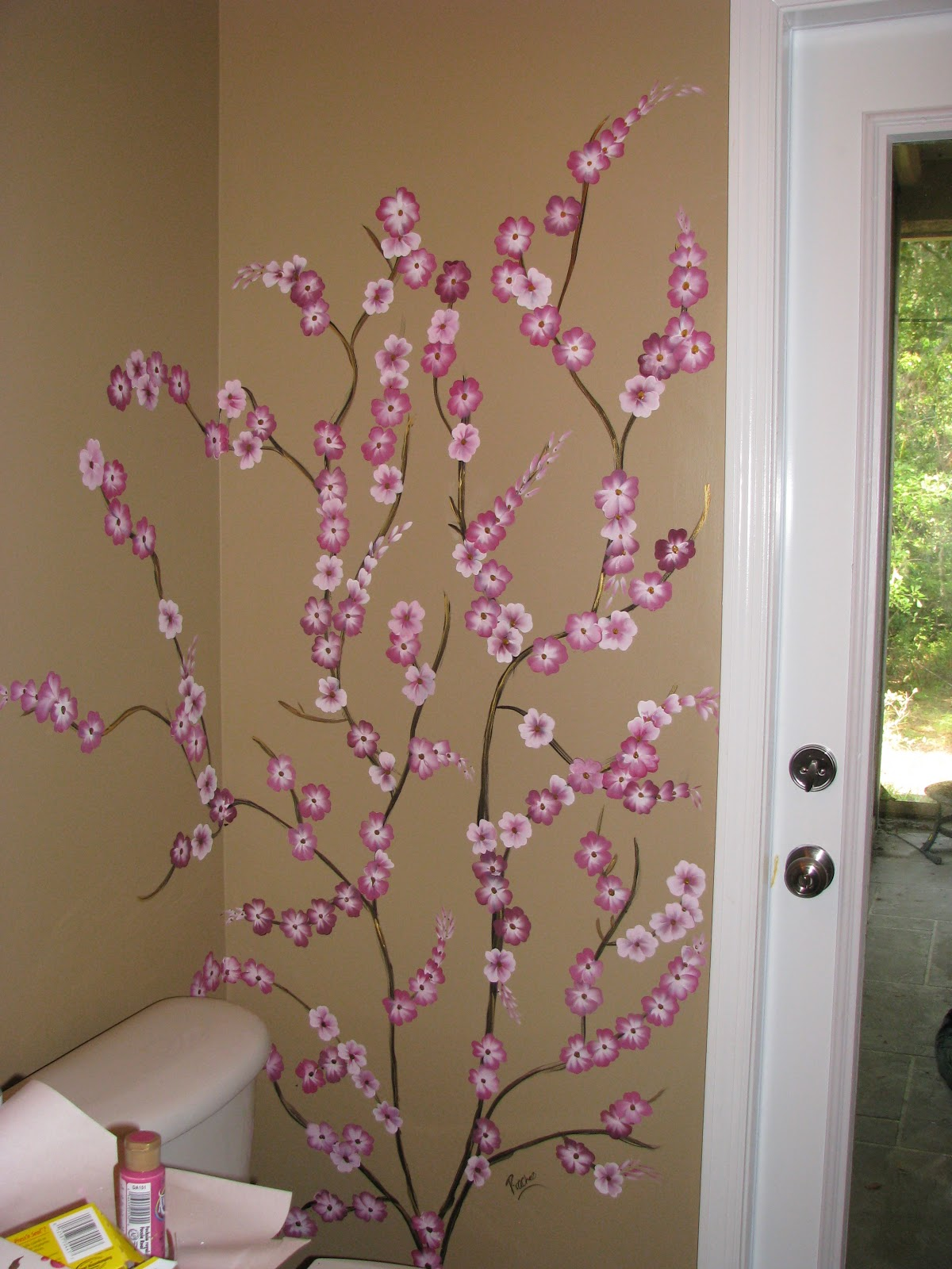 prachee agrawal one stroke certified instructor wall cherry blossom wall mural grahambrownuk