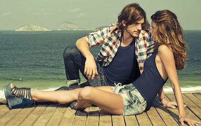 Romantic love couple on beach