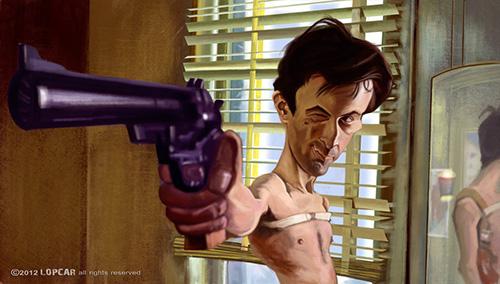 """Caricatura de """"Robert De Niro"""" por Andrés López LOPCAR"""